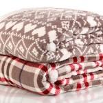 fuzzy warm plaid blankets